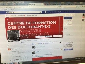 L'aperçu de la page facebook
