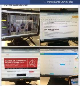 L'écran du compte Facebook du certificat